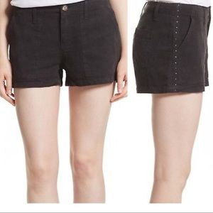 Joie Wilama Studded Caviar Color Shorts